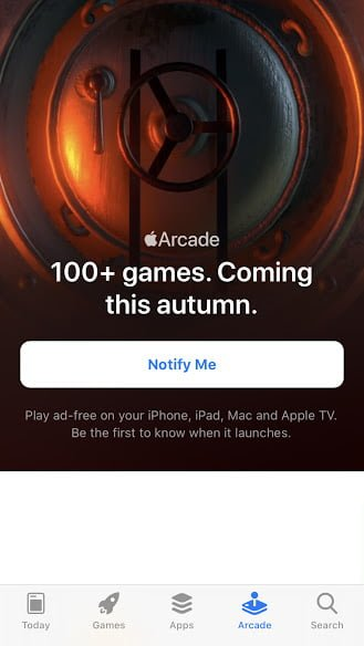 Apple arcade tab app store