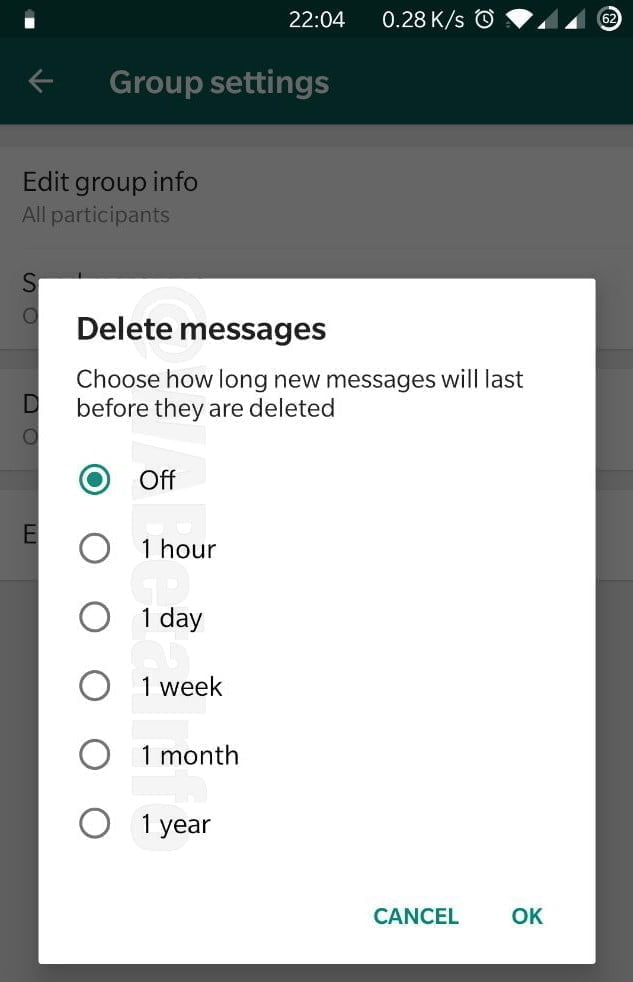 Delete Message Android WhatsApp
