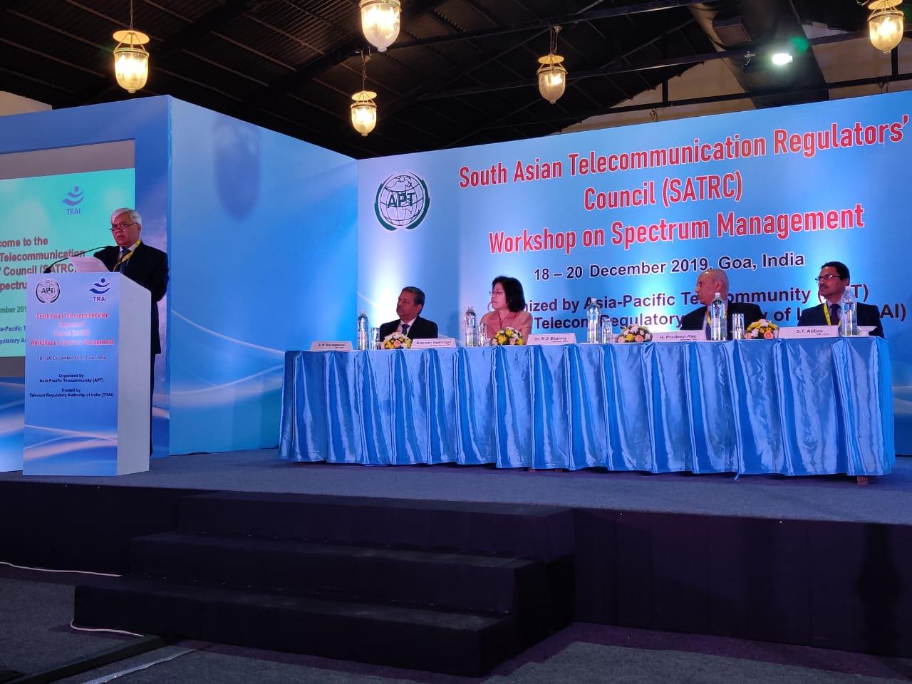 Dr RS Sharma at SATRC Workshop