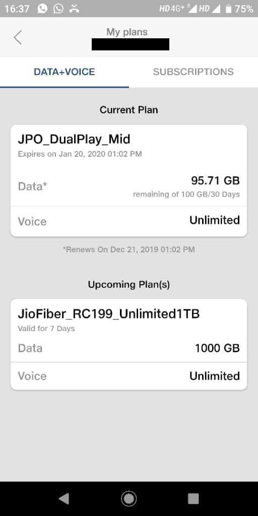 Jio Fiber Rs 199 Weekly Prepaid Plan Voucher now offering 1000 GB