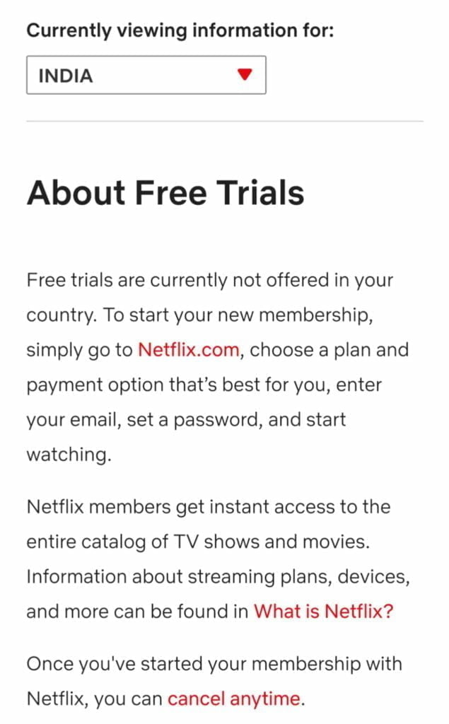 Netflix India ends 30 day Free Trial service from 3 December1