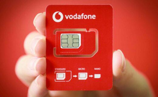 Vodafone SIM Back