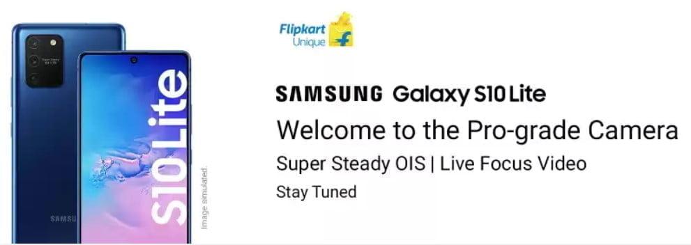 Galaxy S10 Lite Flipkart teaser banner