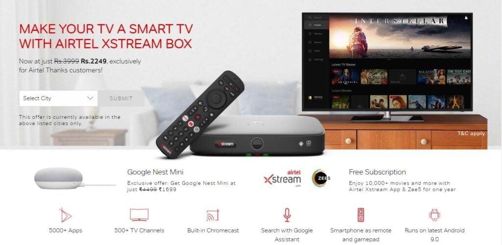 Airtel Xstream Box launching Today