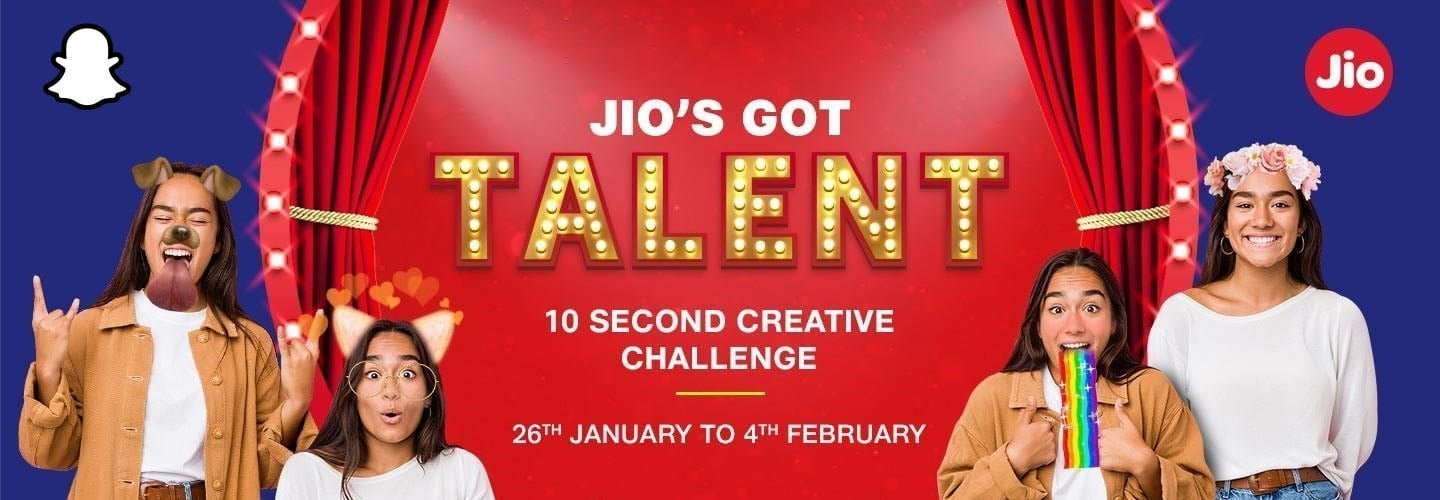 Jio and Snapchat launches 10-second creative challenge – Jio's Got Talent
