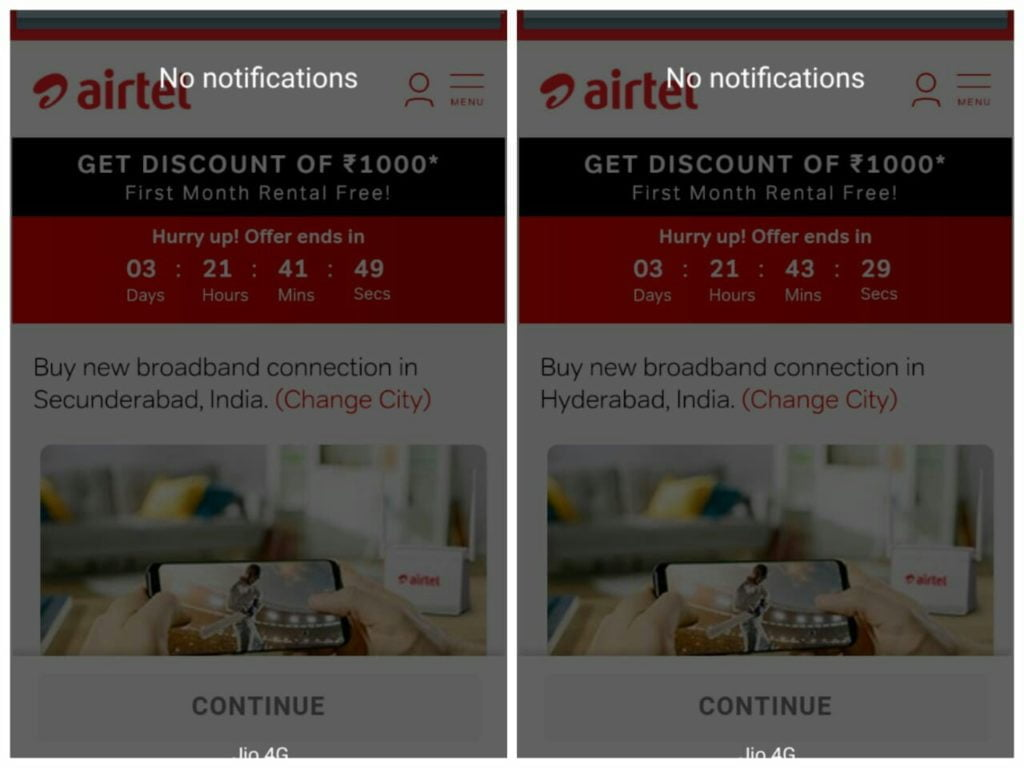 Airtel Xstream Fibre brings back Rs 1000 discount for New Customers in Hyderabad and Secunderabad
