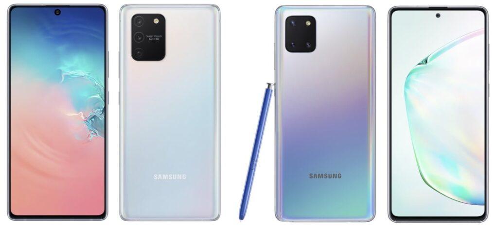 Samsung Galaxy S10 Lite Note 10 Lite front back