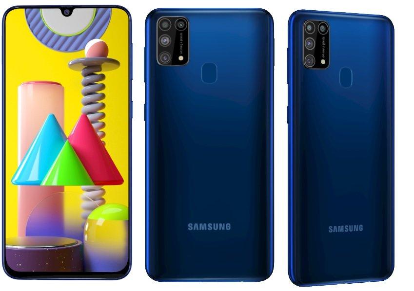 SamsunG Galaxy M31 front back