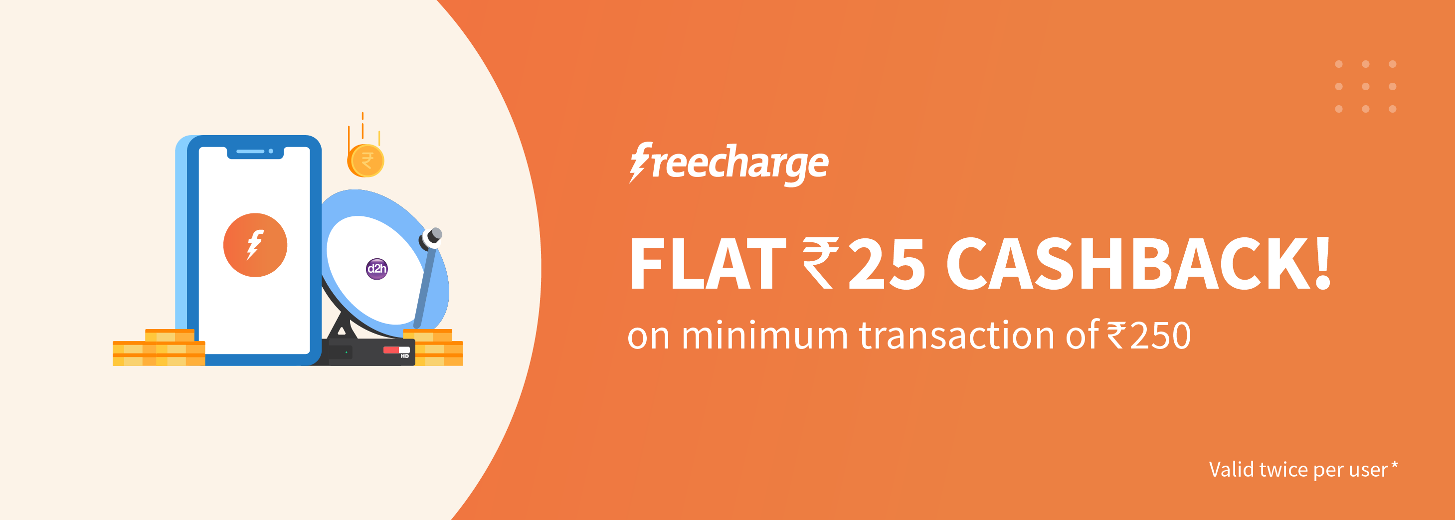 d2h FreeCharge Offer