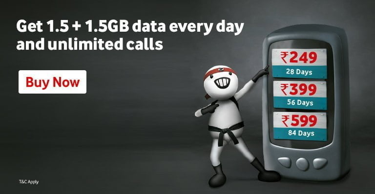 Vodafone Idea offering double data benefit upto 126 GB on 3 plans