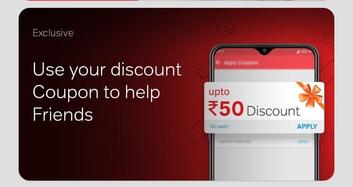 Airtel discount coupon to help friend