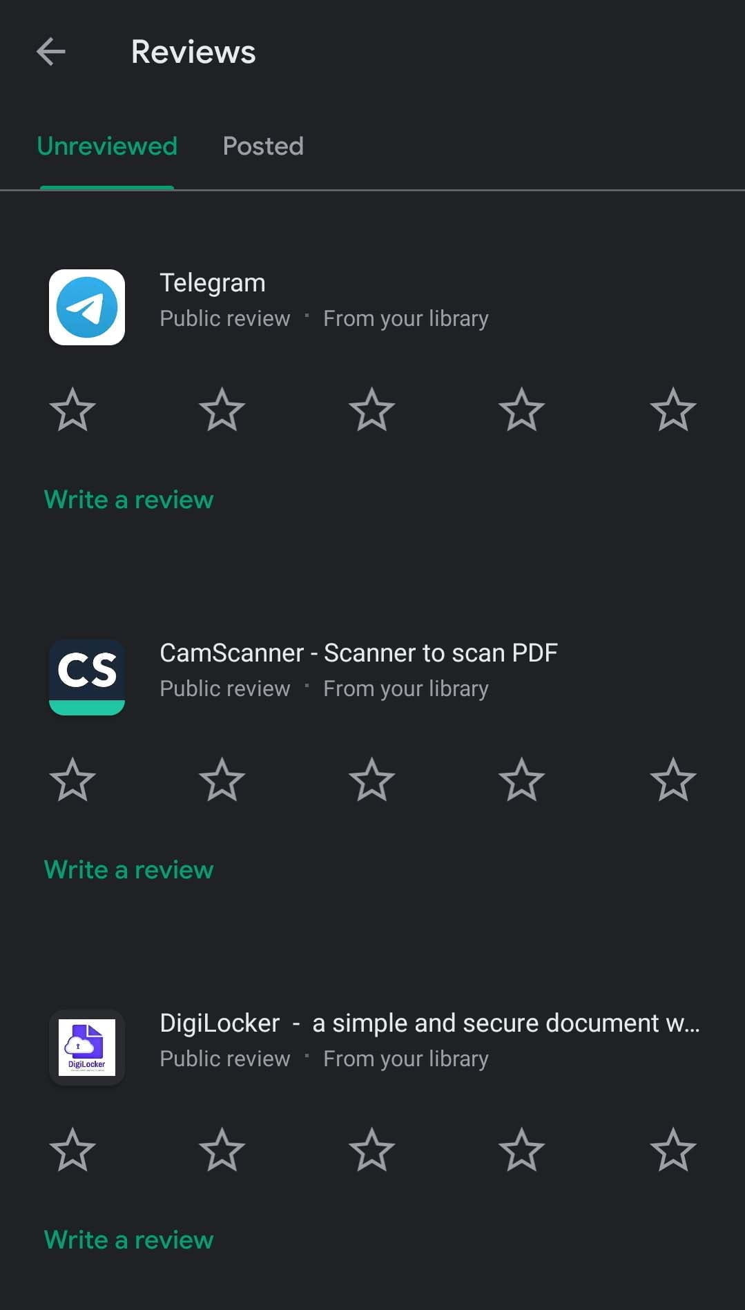 Google Play adds a new review section; allow users to manage all app reviews in one spot
