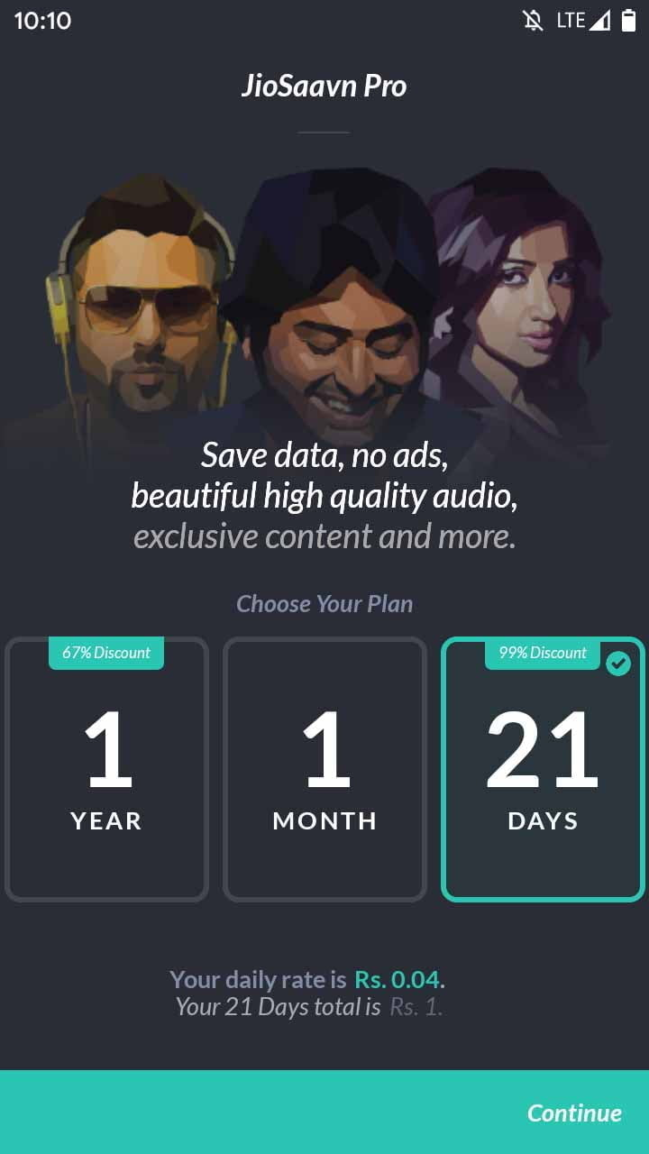 JioSaavn available at 99% discount during 21 days of lockdown