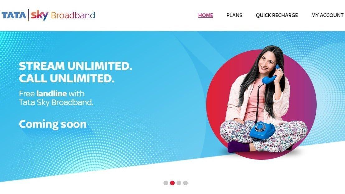 Tata Sky Broadband Free Landline