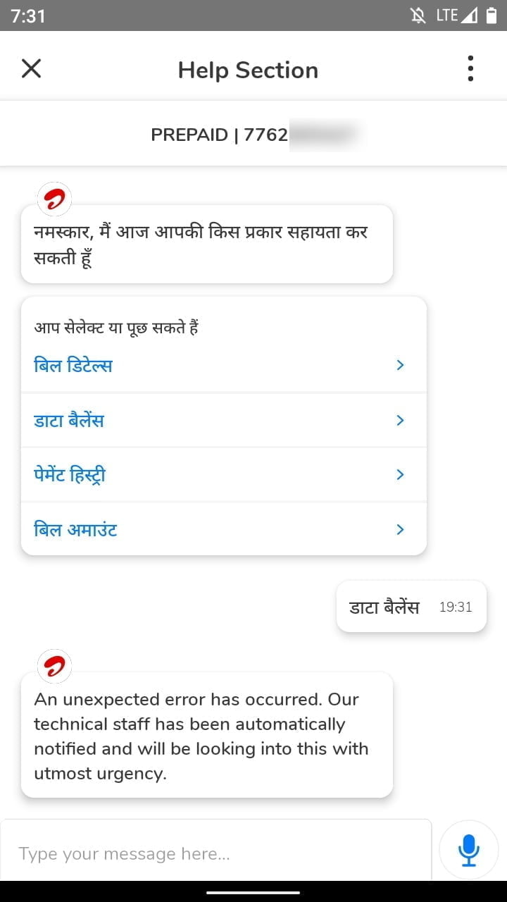 Airtel testing AI-based assistant on its Airtel Thanks app