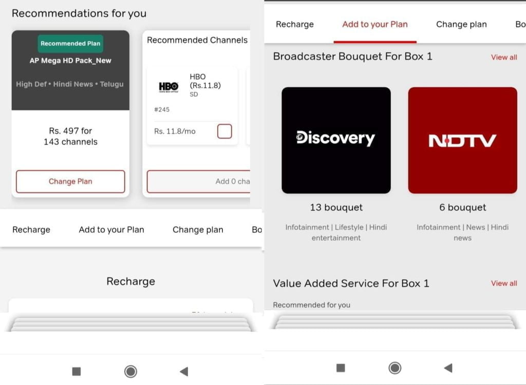 Airtel Thanks app gets a revamped Airtel DTH section