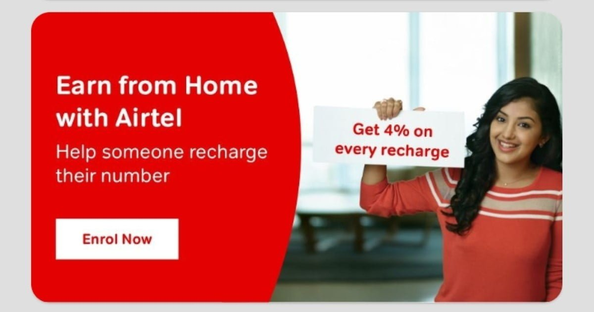 Airtel Thanks Earn from Home