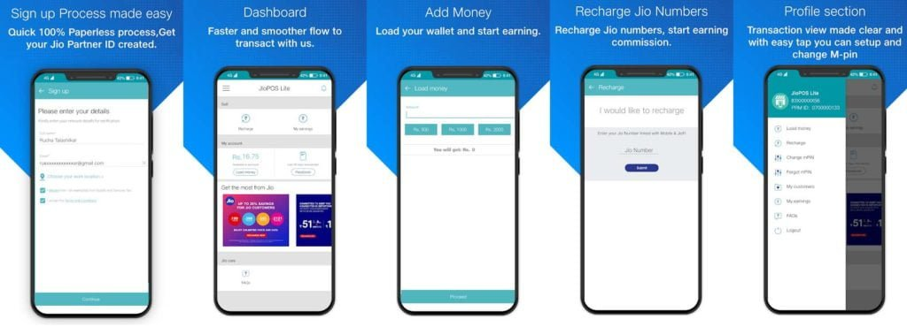 JioPOS Lite app Load Money denominations now start at Rs 1000