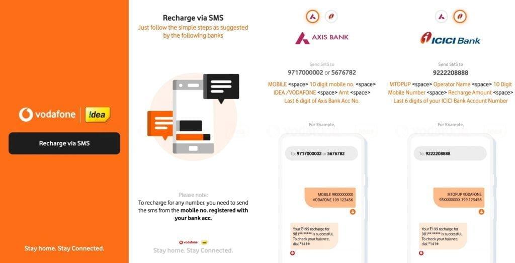 Voda Idea SMS recharge 1