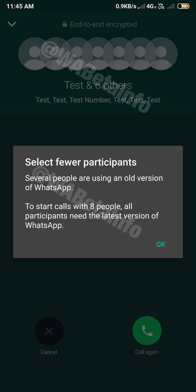 WhatsApp Group call WABetainfo
