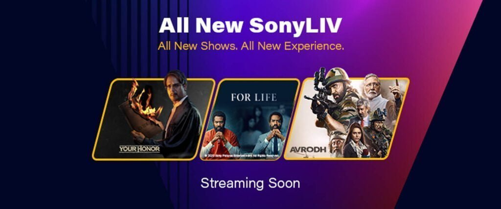 All new on Sony LIV