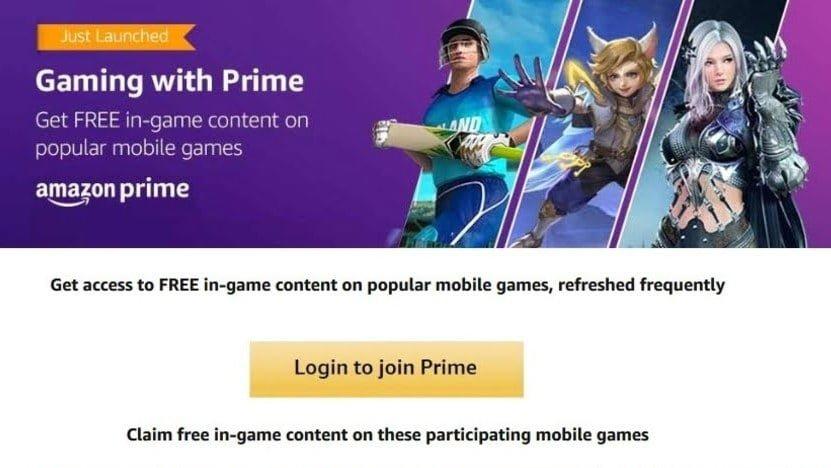 Amazon Prime in game content