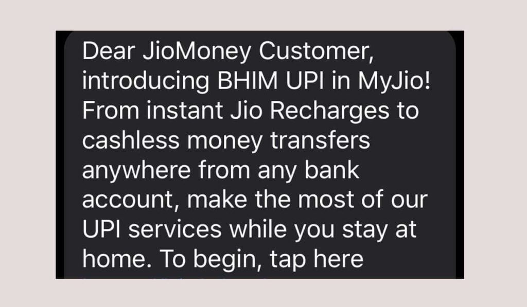 BHIM UPI to be introduced in MyJio
