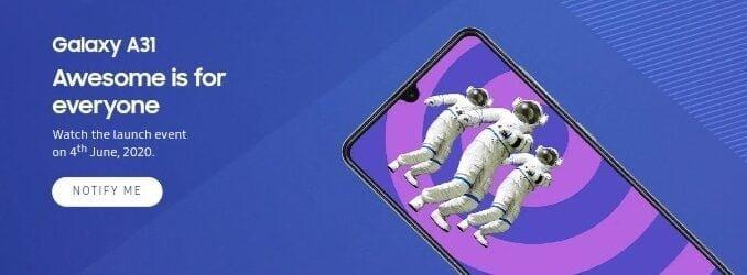 Galaxy A31 teaser e1590510345901