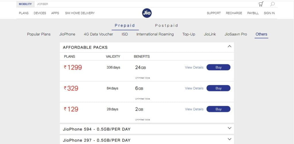 Reliance Jio discontinues Rs 98 Smartphone Plan
