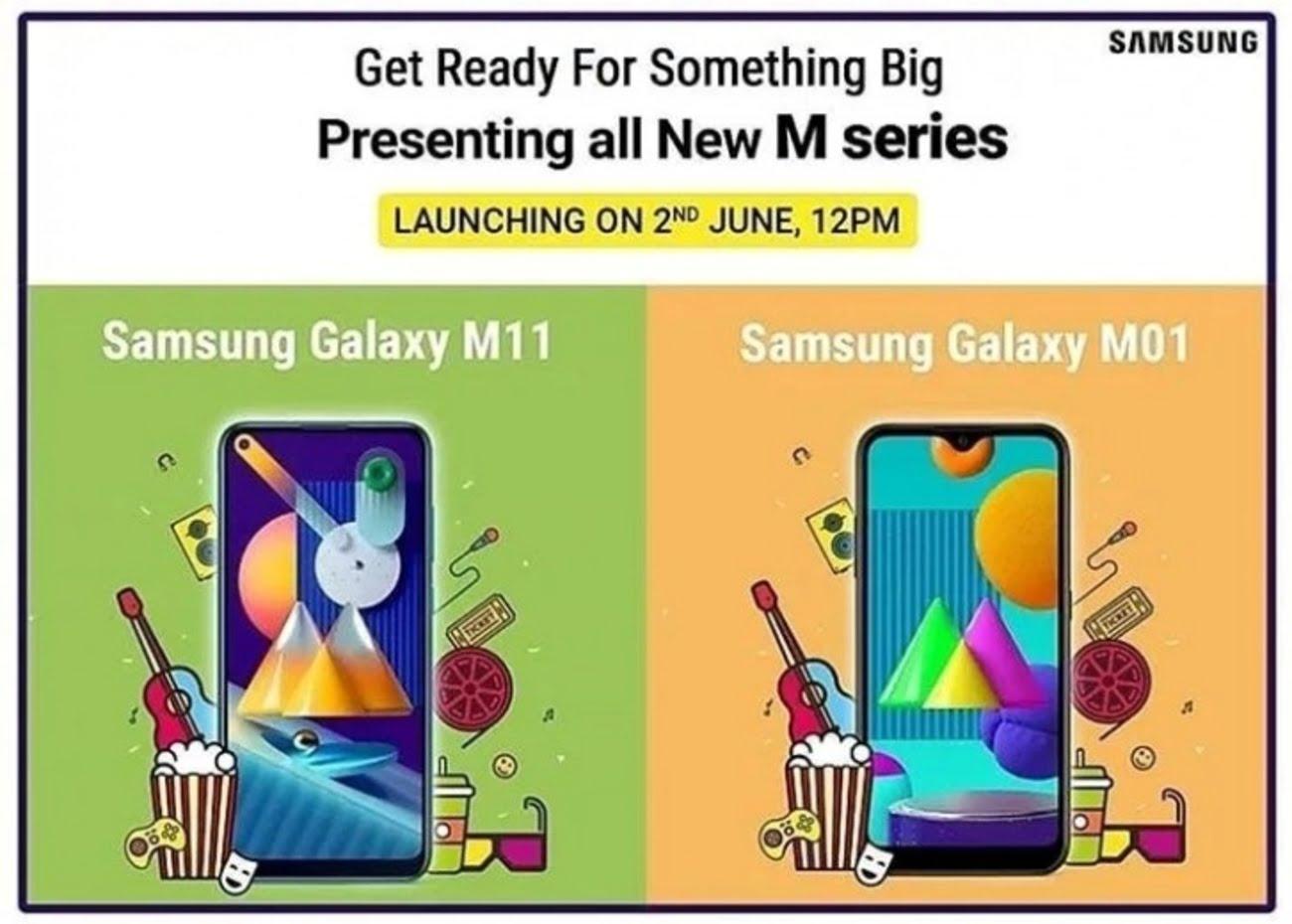 Samsung Galaxy M11 and M01 banner