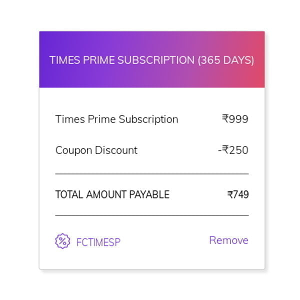 Here is how you can get Times Prime 1 year subscription at an effective price of Rs 150 today