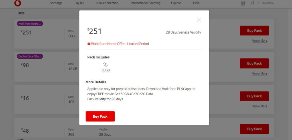 Vodafone Idea launches Rs 251 Work From Home Pack with standalone validity of 28 Days