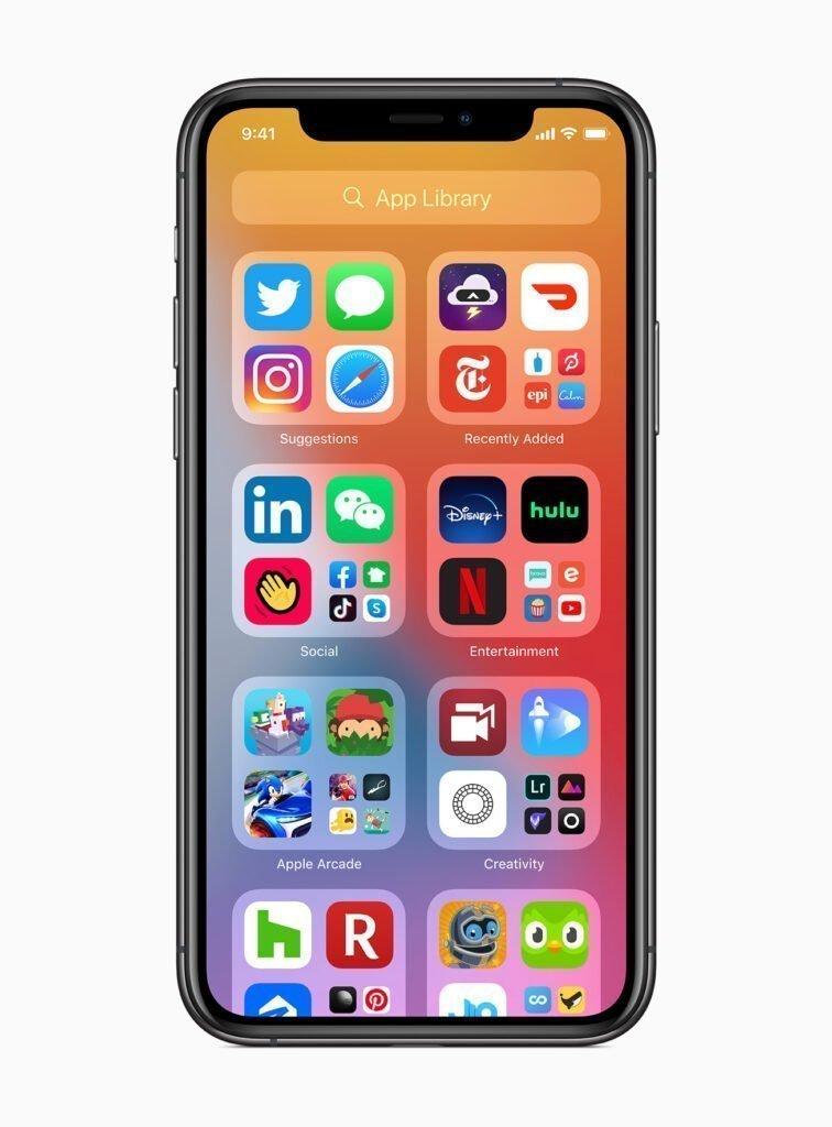 Apple ios14 app library