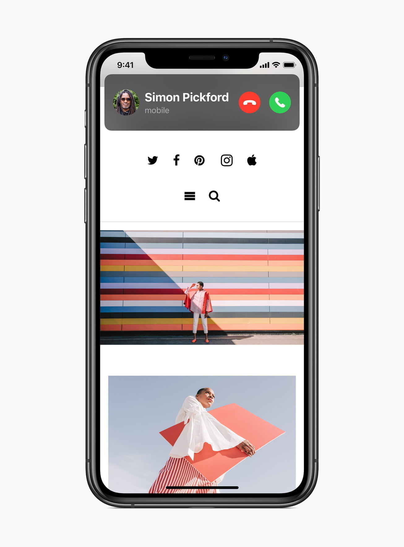 Apple ios14 incoming call