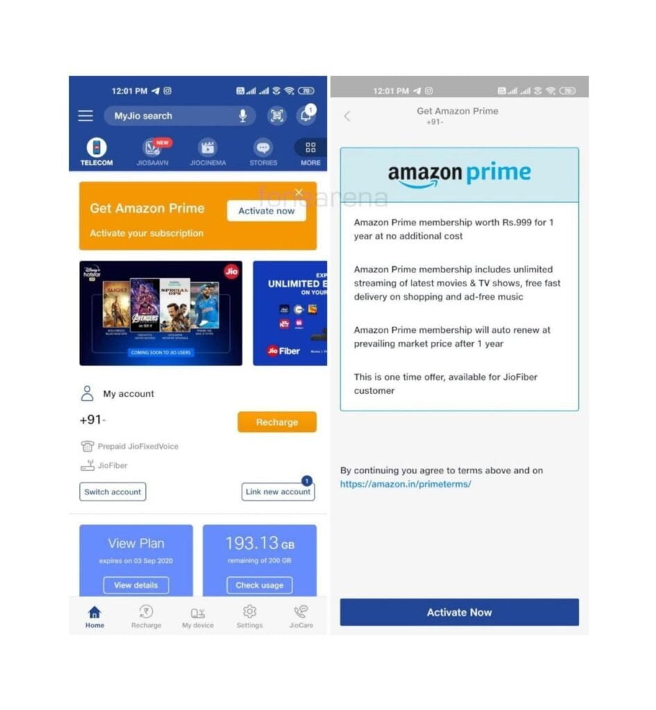 JioFiber offering 1 Year free Amazon Prime subscription to its customers: Report