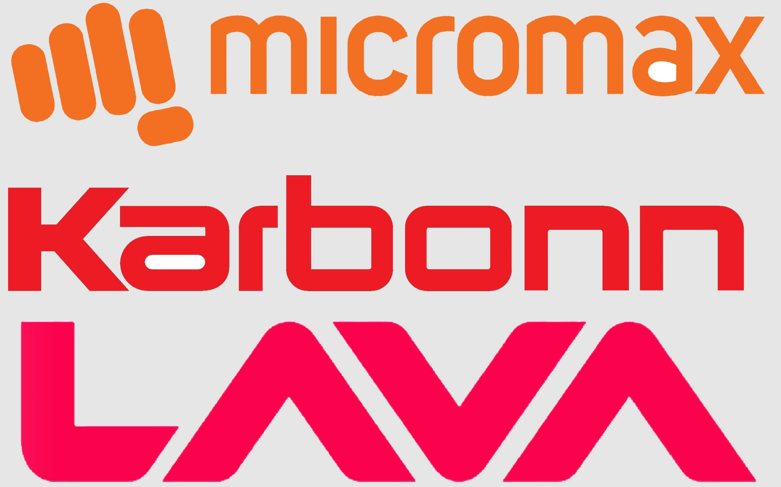 Micromax Karbonn Lava logos scaled