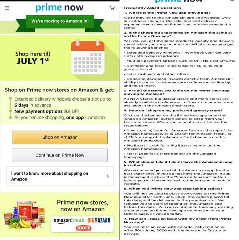 Prime Now moving to Amazon.in
