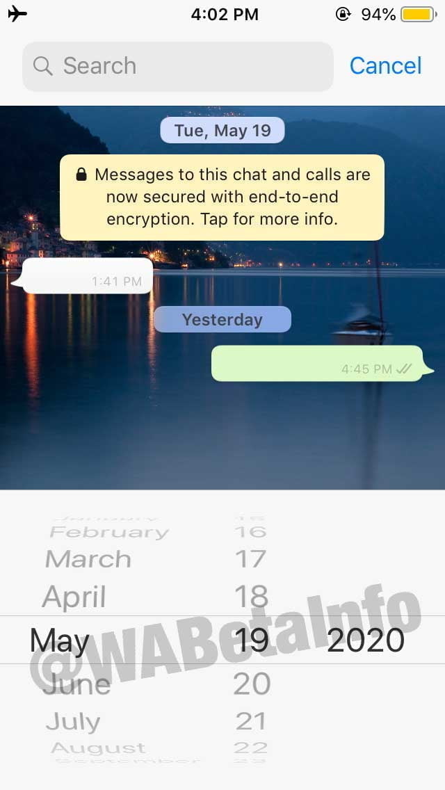 Search By Date 2 Whatsapp