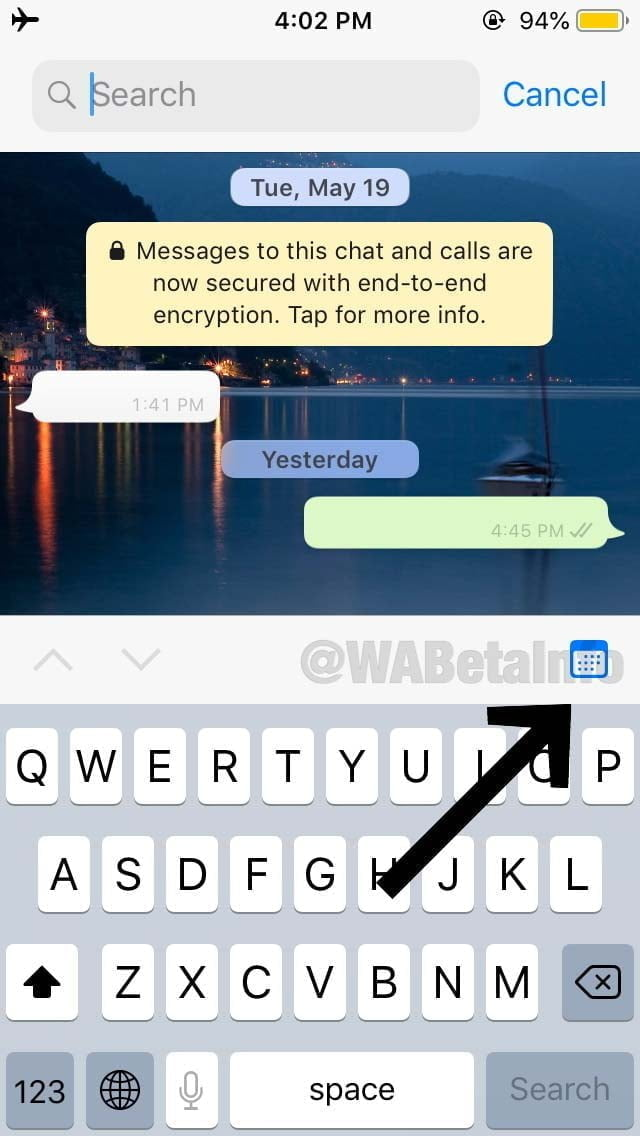 Search By Date Whatsapp
