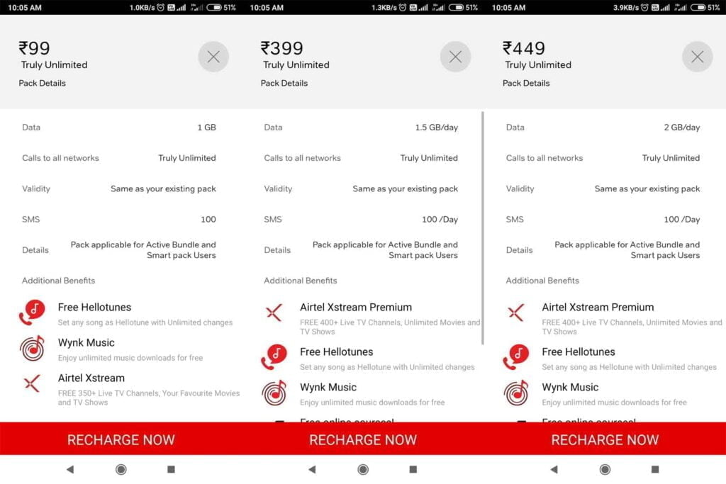 Airtel testing co-terminous validity on select plans