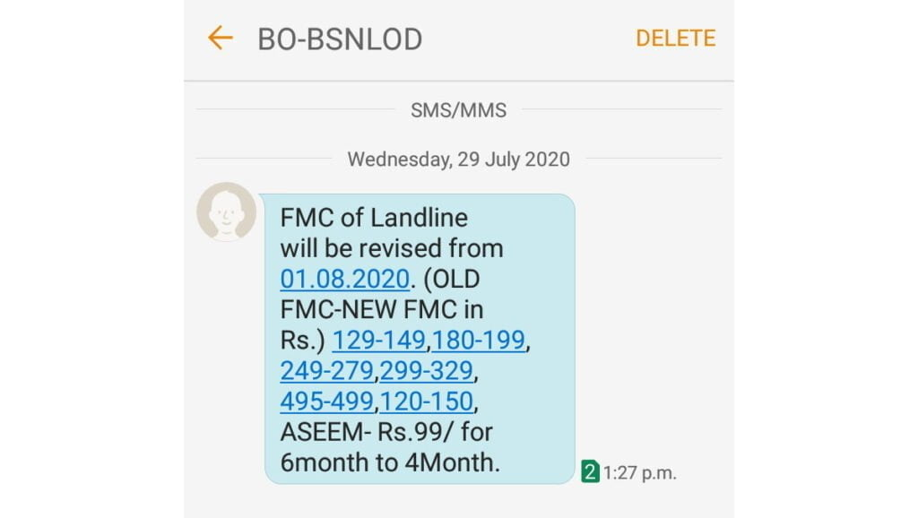 BSNL to revise FMC of landline from 1st August