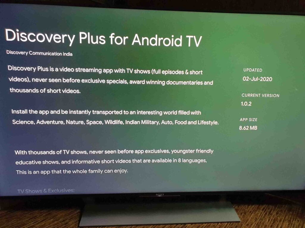Discovery Plus now available for Android TV