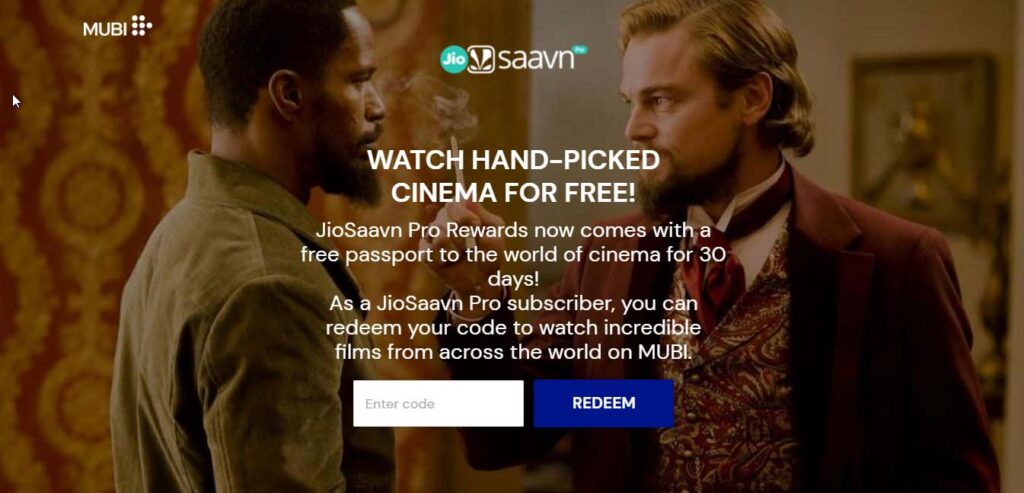 1 month MUBI subscription worth Rs 499 free for JioSaavn Pro customers