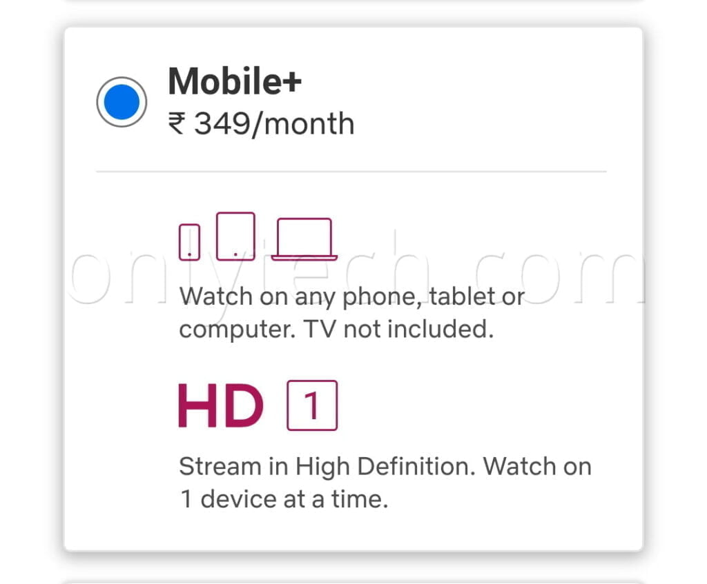 Netflix testing 'Mobile+' plan at Rs 349 in India