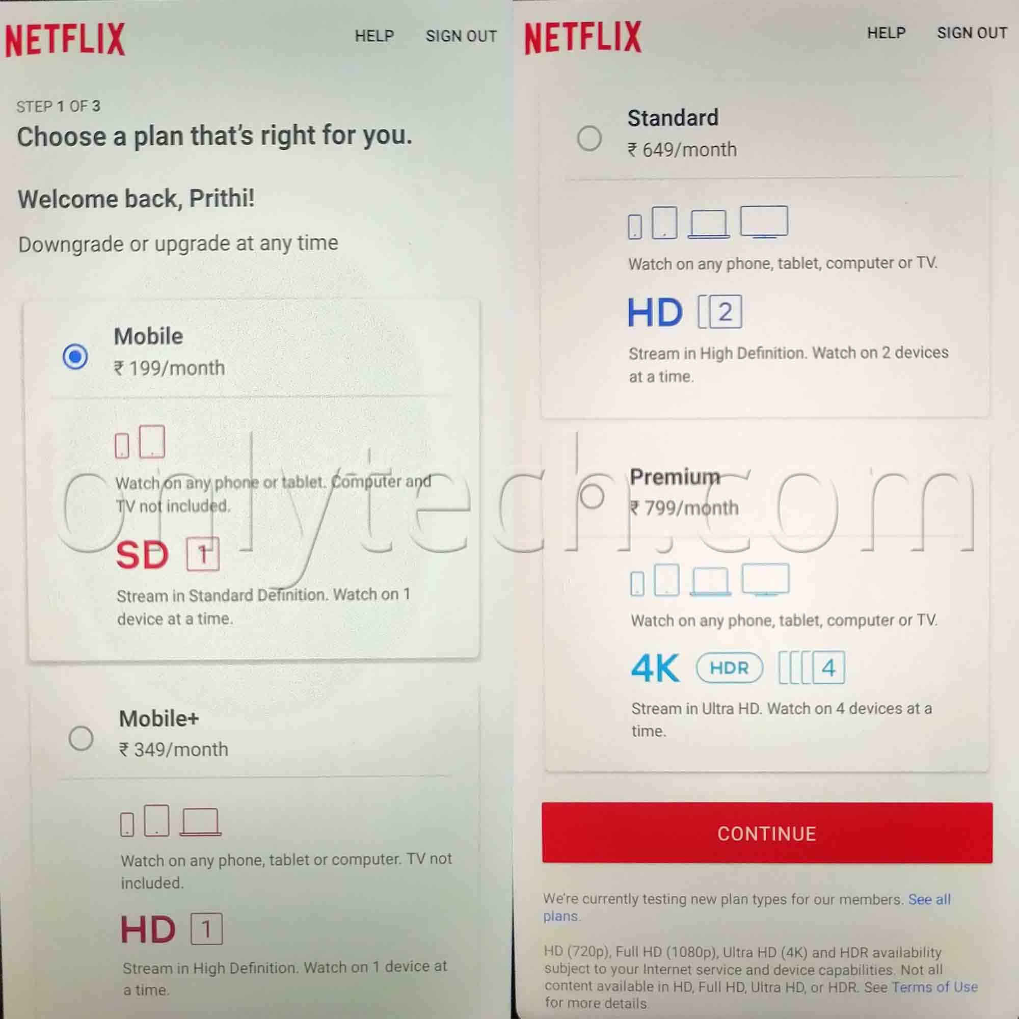Netflix Rs 349 Mobile Plan 1