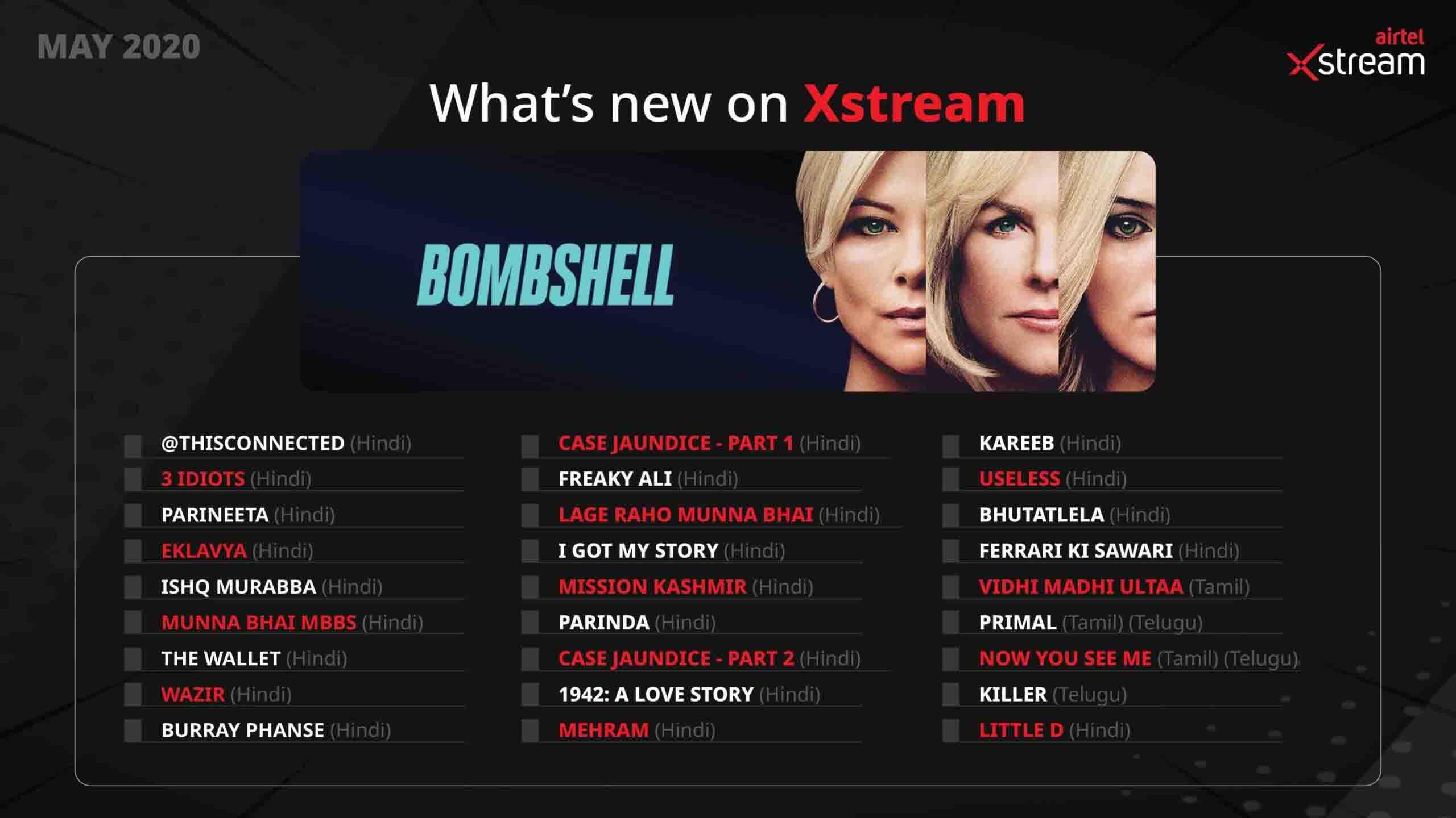 Whats New on Airtel Xstream 1