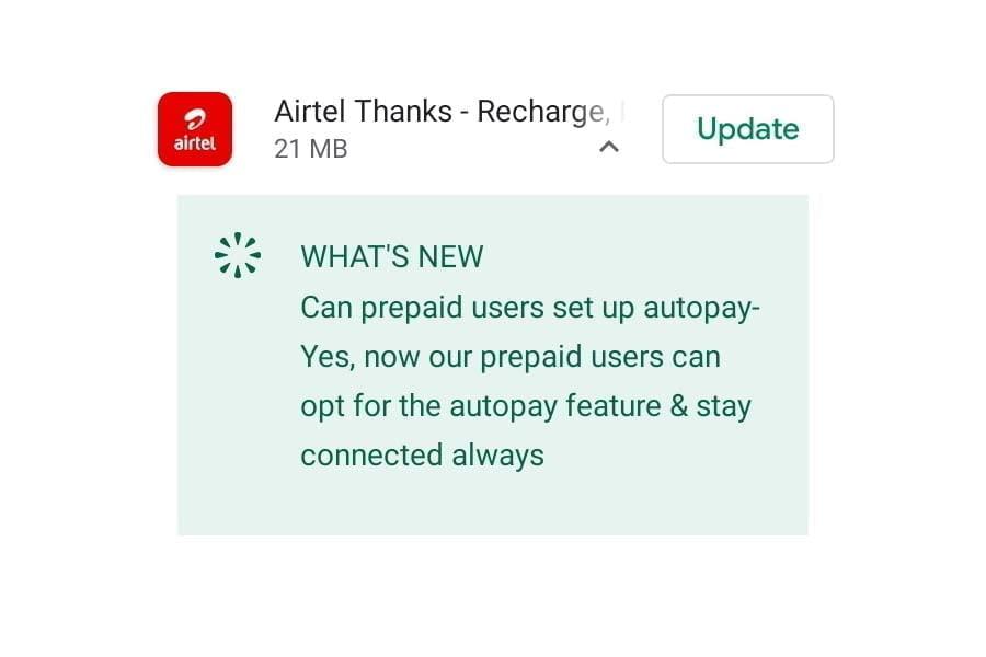 Airtel Autopay