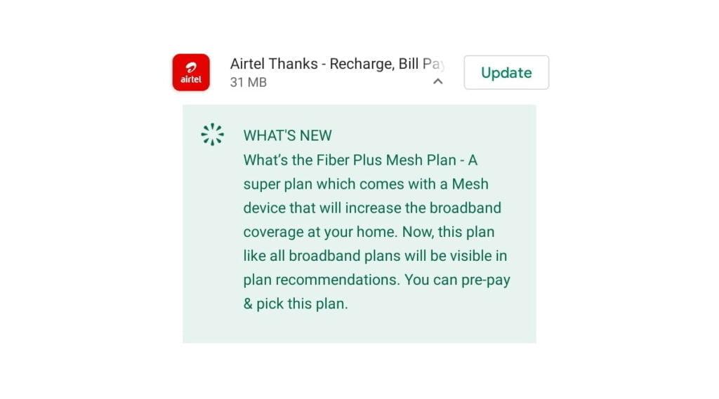 Airtel Xstream Fiber Mesh Plan