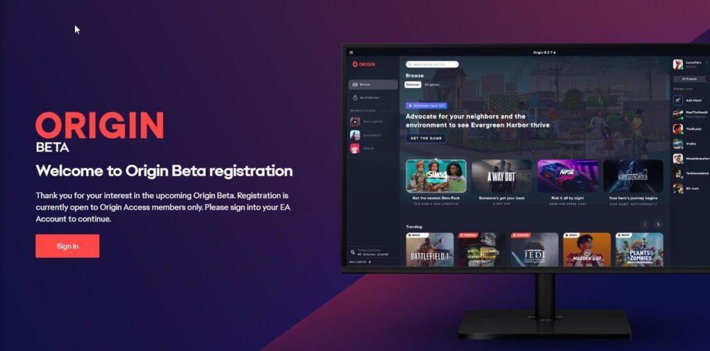 EA to start closed Origin Beta for new Origin app