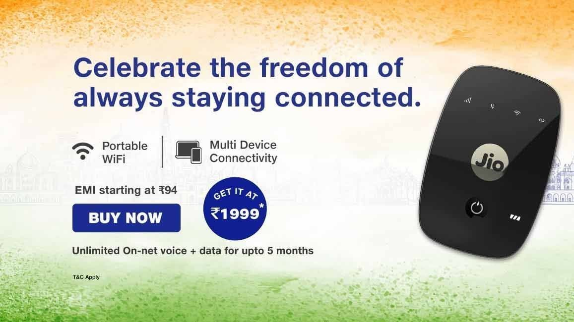 JioFi Independence Day Offer